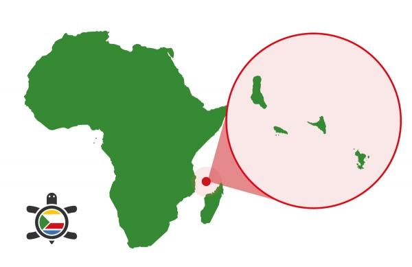 Karte Komoren Inseln Afrika